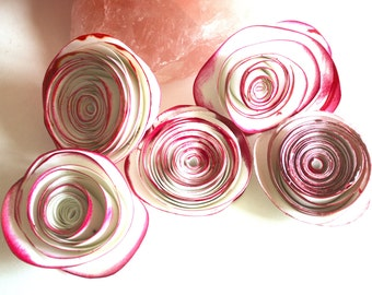 Ranunculus/Rose  Cardstock Paper Flowers-  MADE TO ORDER  Large- Available in Red or White