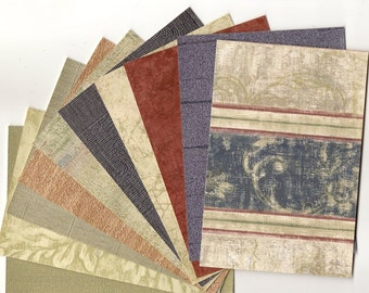 Navy Blue Strip, Blue and Brown Wallpaper Pack for ACTs, Paper Arts, Collage, Scrapbooking, Assemblage and MORE PSS 2337