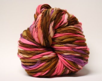 Thick and Thin Merino Superfine Handspun Slub Wool Yarn tts(tm) Hand dyed Half-Pounder xLR 1603x