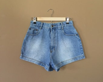 "28"" High Waisted Denim Shorts/90s Jean Shorts/90s Shorts /Levis High Waisted Denim Shorts/Levis Cutoffs /Denim Cutoffs/Jean"
