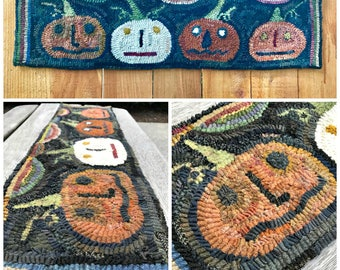 Rug Hooking Pattern A Party at Jack's Place on Linen or Paper