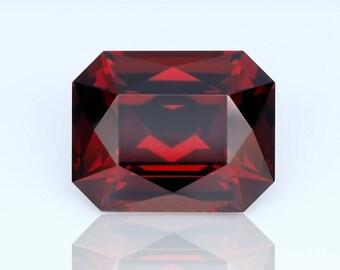 2.8 ct. Rhodolite Garnet from Tanzania, Untreated loose gemstone. Brilliant Emerald cut.