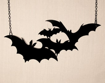 Twinkle, twinkle little bats How I wonder what you're at Necklace - Laser Cut Necklace (C.A.B. Fayre Original Design)