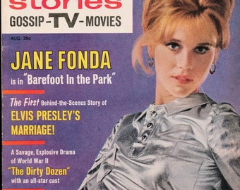 Screen Stories Magazine Jane Fonda Barefoot in the Park August 1967