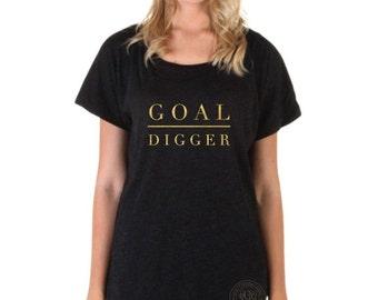 Inspirational Tee Shirts, Goal Digger Tee, Friend Gift