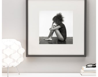 HANDPRINTED Limited Edition B&W Silver Gelatin Print - Girl in black #1