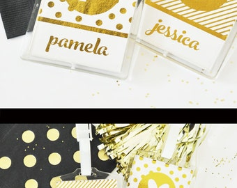 Bachelorette Party Gifts Bachelorette Luggage Tags Gold Bachelorette Party Favors - Bachelorette Party Weekend (EB3112FW) set of 4