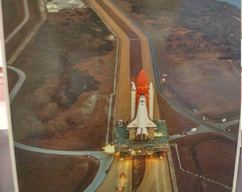 Space shuttle vintage postcard from NASA 1980s glossy finish