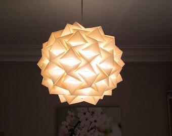 Suspension/lamp star paper color ecru/ivory cream
