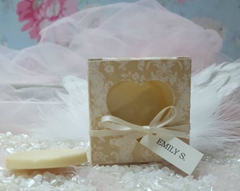 Handmade Damask Design Chocolate Wedding Favours/Place Cards
