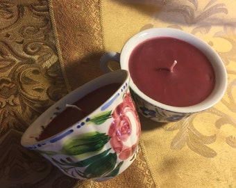 Teacup Candles with Fall in Love scent