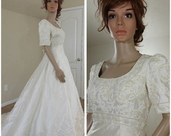 Vintage Silk Bridal Gown by Alfred Angelo