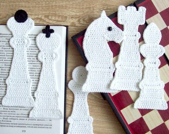 077 Chess 6 Bookmarks - Amigurumi Crochet Pattern PDF file by Zabelina Etsy