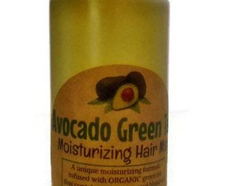Avocado Japanese Green Tea Moisturizing Hair Mist *Organic w/ Matcha Green Tea, Avocado oil, Coconut oil,Rosemary essential oil 8oz.