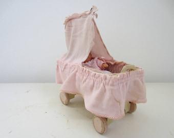 Dollhouse Nursery Crib With Canopy By Korbi/ Karl Schreiter