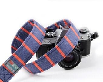 Striped Camera Strap - Retro, Hipster Strap - Oxford Stripe