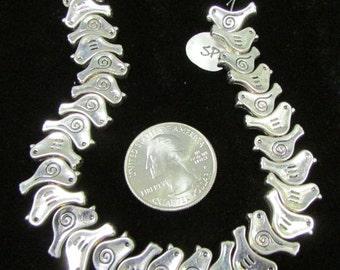 Strand of Silverplate Bird beads