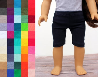 Fits like American Girl Doll Clothes - Bike Shorts, You Choose Color   18 Inch Doll Clothes