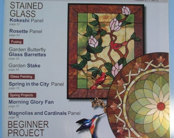 Glass pattern  Quarterly magazine Stained Glass Patterns Spring 2011 vol 27 no 1 back issue used