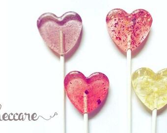50 Summer Wedding Favors // Flower Heart Lollipops // Think Spring Collection // Spring Wedding Favors // Flower Wedding Favors