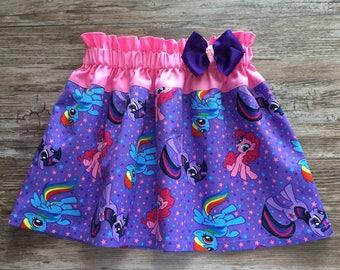 My Little Pony Skirt, MLP Skirt, Rainbow Dash Pony Skirt,