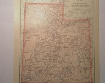 Vintage Map of UTAH 1899