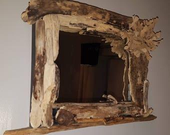 Handmade Driftwood upscaled Mirror