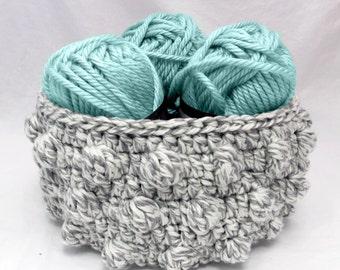 Crochet Pattern ~ Bobble Basket ~ Crochet Pattern