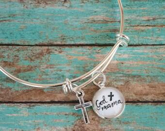 Godmother Bracelet, Godmother Gifts, God Mother Bangle, Baptism Gift for Godparent, Best Godmother Gift