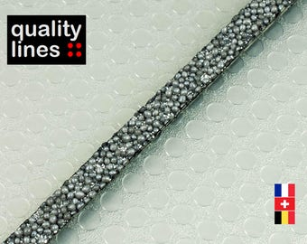 X 18CM - leather 5mm flat caviar gray 2 mm (18 cm is enough to make a bracelet up to size XL)