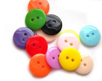 50 Assorted Buttons 1/2 Inch