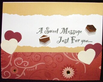 VALENTINE'S DAY CARD - A Sweet Message Just For You
