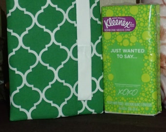 Sac à main tous les jours ou des mouchoirs de poche - très belle impression verte et blanche