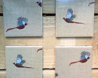Pheasant Coasters (set of 4)