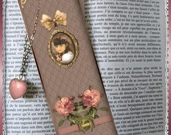 "Laminated bookmarks ""Vintage girl"""