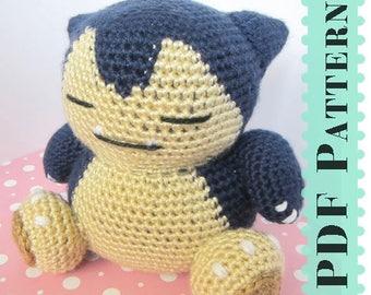 Snorlax Amigurumi Crochet Tutorial Companion Pattern