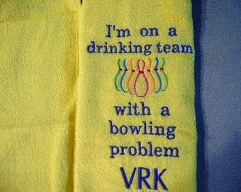 Free personalizing Funny cool bowling towel