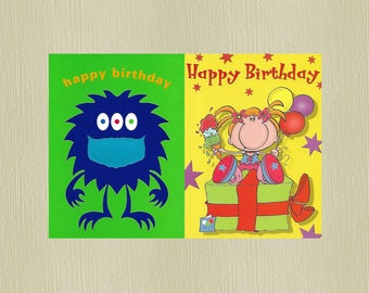 2 Childrens Birthday Cards for boys & girls. - We also have birthday cards / christmas cards / thank you cards