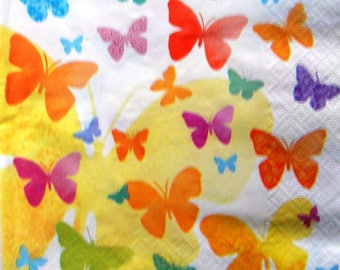 """Orange Butterfly"" towel"