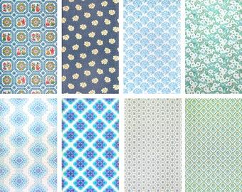 70s wallpaper - metre / vintage wallpaper / blue 2