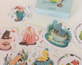 Little Animal Stickers - Planner Stickers - Animal Stationery - Reward Stickers