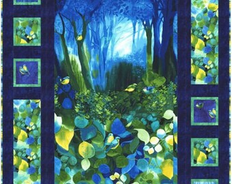 """Timeless Treasures - Deep Forest - 42"""" x 61"""" Wall or Lap Quilt Kit (includes pattern and fabric for top of quilt & binding) - AAFQK-104"""
