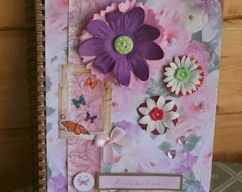 Handmade Embellished A5 Notebook