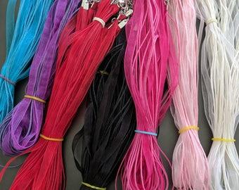 Organza ribbon necklaces