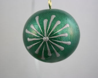 Christmas ornament mini gourd; gourd ornaments; gourds; wax technique; mini gourds; Christmas gourds; green and silver gourd ornament