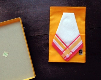 Vintage cotton Winkler handkerchiefs set of two