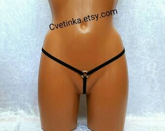 EXTREME MICRO BIKINI Thongs Gay Lingerie Sexy Lingerie Bridal Honeymoon Lingerie Strappy Panties Crotchless Bikini Open Crotch Lingerie