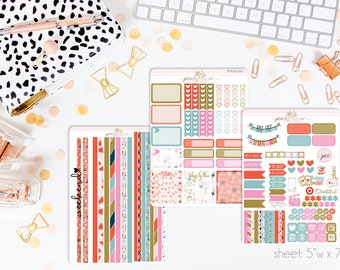 A Christmas Movie HORIZONTAL Weekly Kit // 130+ Matte Planner Stickers // Perfect for your Erin Condren Life Planner // WKH0450