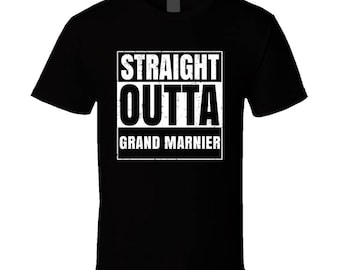 Straight Outta Grand Marnier Funny Favorite Snack Food Compton Parody T Shirt