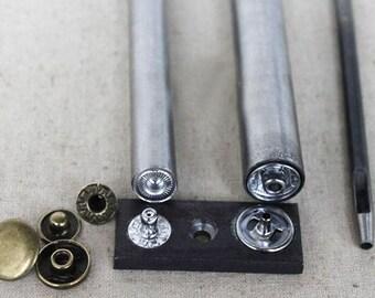 Open top Snap Fastener tool,snap fastener kit